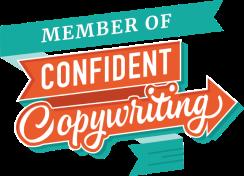 confident copywriting badge